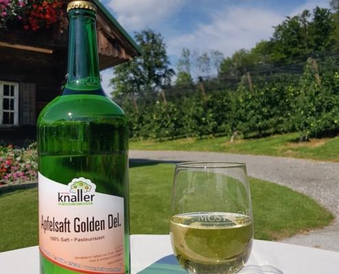 Obstbau Knaller Apfelsaft Golden Delicious
