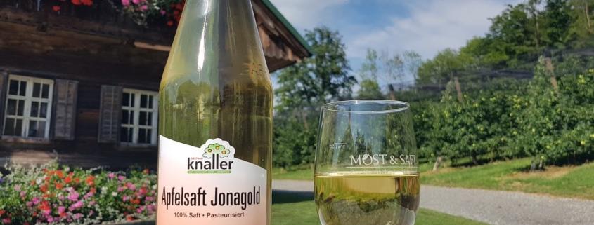 Obstbau Knaller Apfelsaft Jonagold