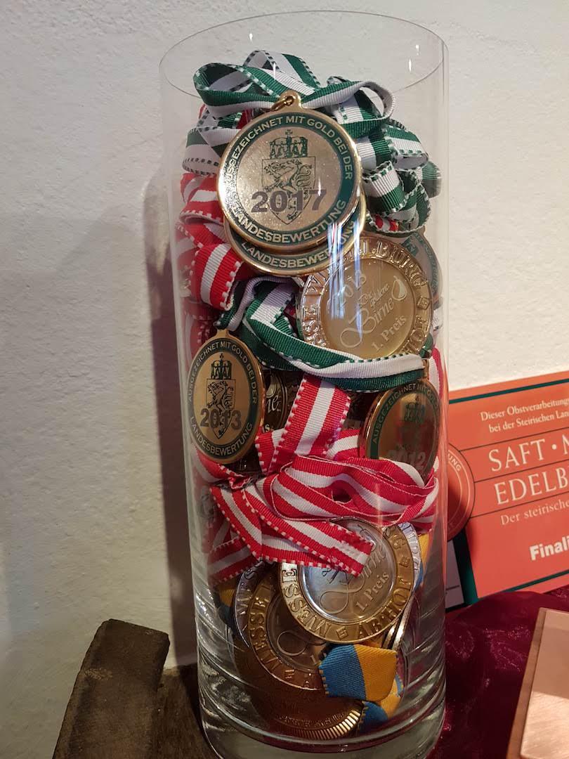 Obstbau Knaller Auszeichnungen Medaillen