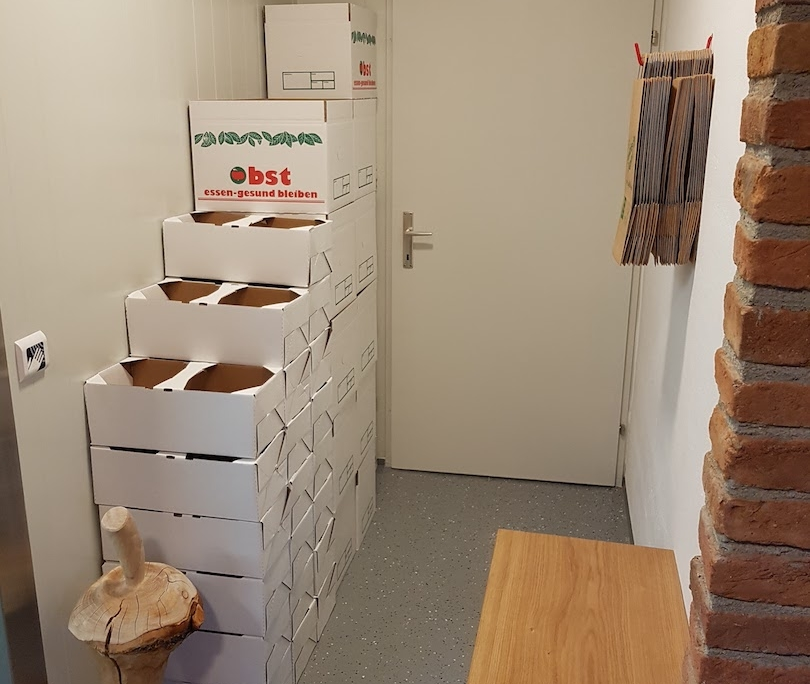 Obstbau Knaller Kühlraum Verpackungen