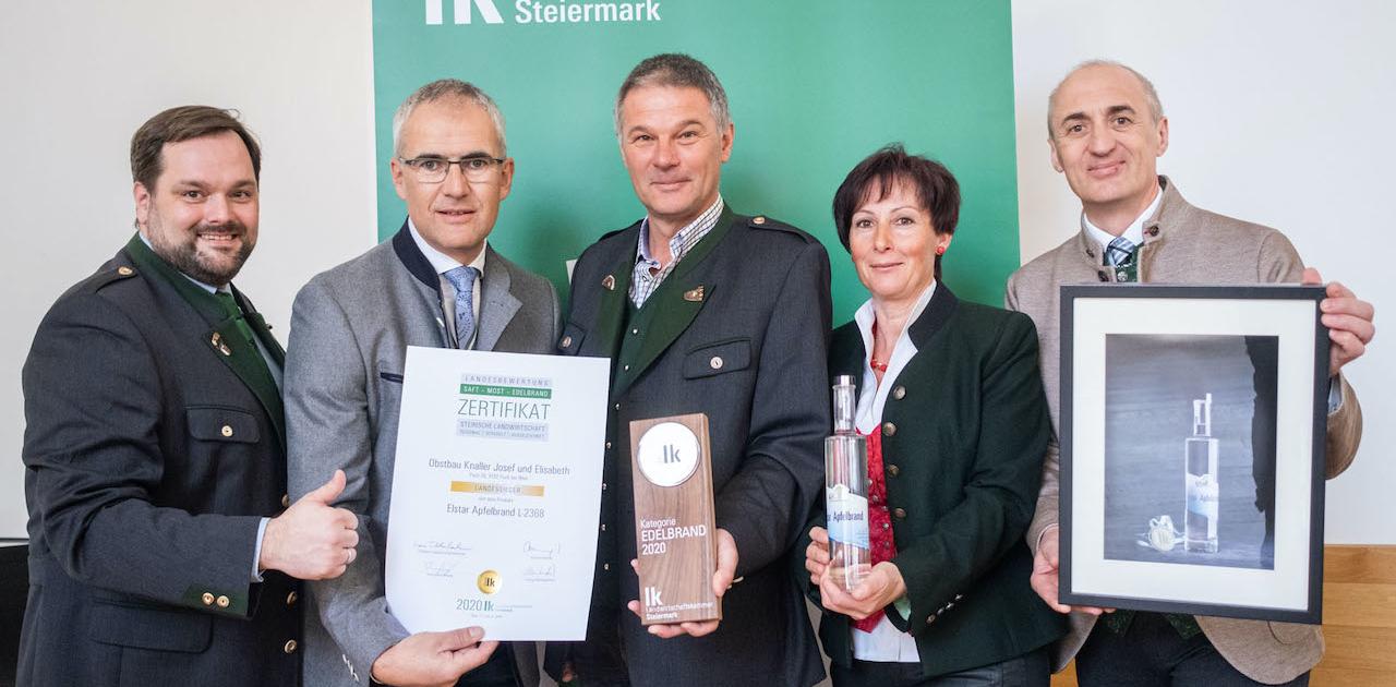 Landwirtschaftskammer Steiermark Edelbrand 2020 Landessieger 2020 ObstbauKnaller
