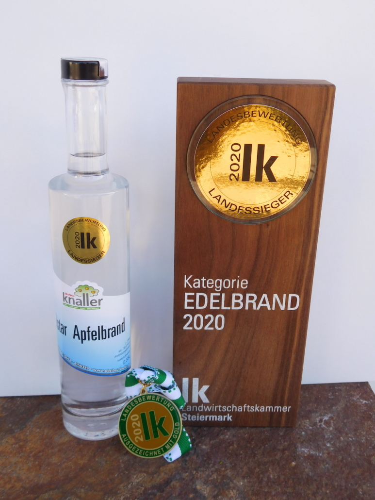 Obstbau Knaller Landessieger 2020 Edelbrand Elstar Steirische Landesbewertung